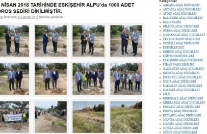 16 Nisan 2018 Tarihinde Eskişehir Alpu'da 1000 Adet Toros Sediri Dikimine Katıldık